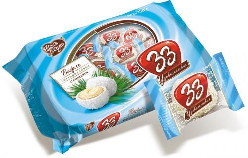 33 удовольствия с кокосом 150 г