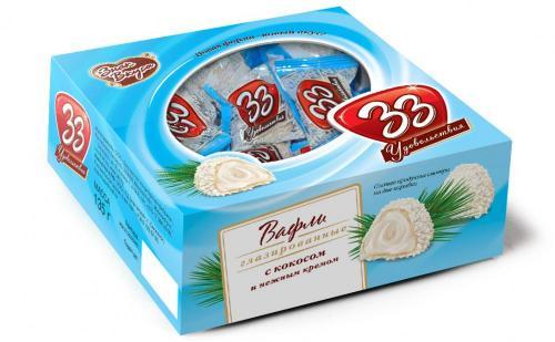 33 удовольствия с кокосом коробка 135 г