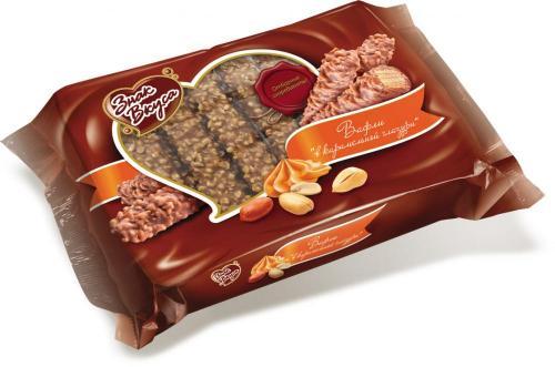 Вафли с арахисом в карамельной глазури 213 г