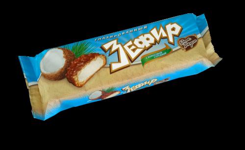 Зефир глазированный с кокосовой стружкой - коррекс 130